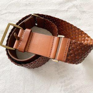 LOFT Double Braided 3 Segment Leather Belt NWOT